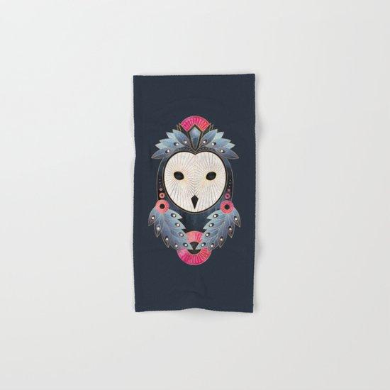 Owl 1 - Dark Hand & Bath Towel