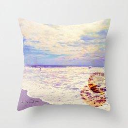 take me to the beach Throw Pillow