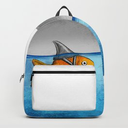 Attitude is everything–Goldfish with Shark fin Backpack