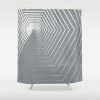 vertigo Shower Curtains featuring Vertigo by K&C Design