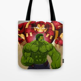 Hulk vs. Hulkbuster Tote Bag