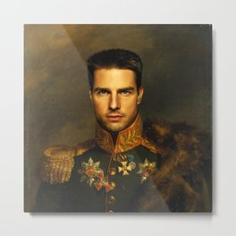 Tom Cruise - replaceface Metal Print