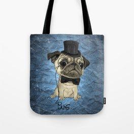 Pug; Gentle Pug (color version) Tote Bag