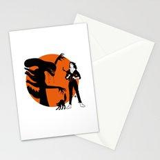 Alien Cartoon Style - Orange Stationery Cards
