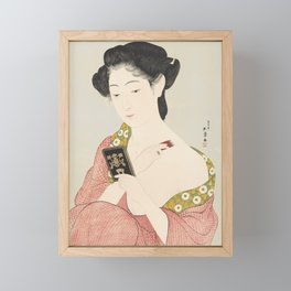 Make-up, Goyo Hashiguchi, 1918 Framed Mini Art Print