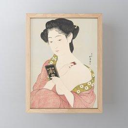 Make-up, Goyo Hashiguchi, 1918 Framed Mini Art Print
