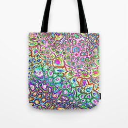 Colorful Synaptic Channels Tote Bag