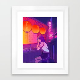 Ramen shop Framed Art Print