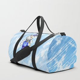 Sporty White Tiger Skating Duffle Bag
