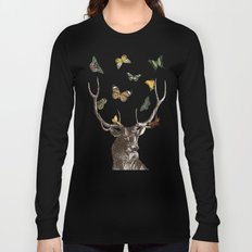 The Stag and Butterflies Long Sleeve T-shirt