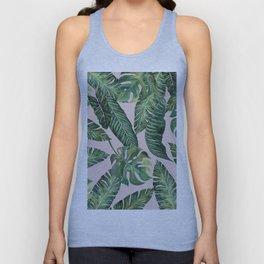 Jungle Leaves, Banana, Monstera Pink #society6 Unisex Tank Top
