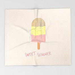Summer Ice Cream Throw Blanket