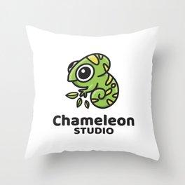 Chameleon Studio Logo Throw Pillow