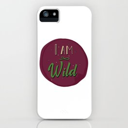 """I am wild,"" replied Grantaire. iPhone Case"