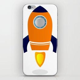 Spaceship : orange Product design iPhone Skin