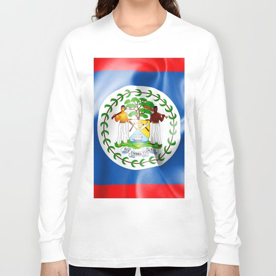Belize Flag Long Sleeve T-shirt
