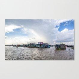 Chong Khneas Floating Village V, Siem Reap, Cambodia Canvas Print