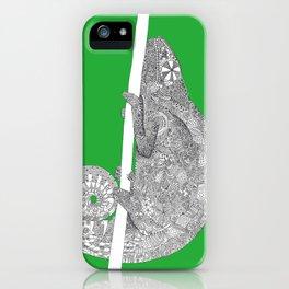 Green-Chameleon iPhone Case