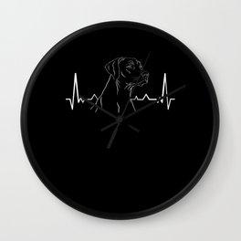 Rhodesian Ridgeback Heartbeat Wall Clock