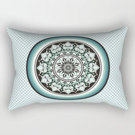 Mandala Design Sea Blue Aqua Theme Rectangular Pillow