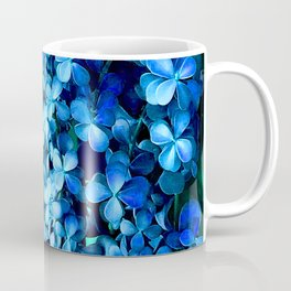 Periwinkle Blue Flowers Cascading Down Green Planter Coffee Mug