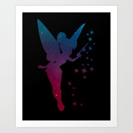 Galaxy Fairy Art Print