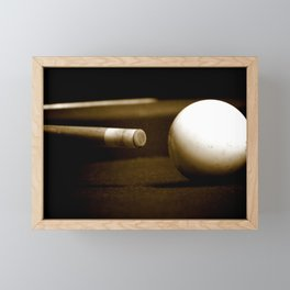 Pool Table-Sepia Framed Mini Art Print