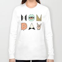 garfield Long Sleeve T-shirts featuring MONDAY by Wesley Bird