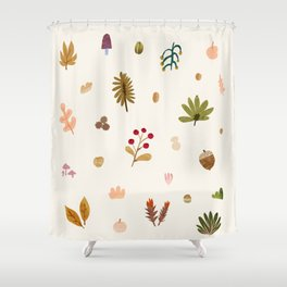 Abstraction_Woodland_Exploration_01 Shower Curtain