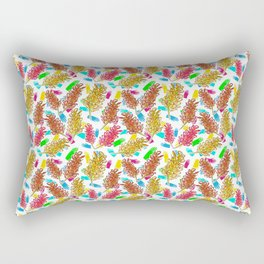 Bright Australian Native Florals on lovely colourful background Rectangular Pillow