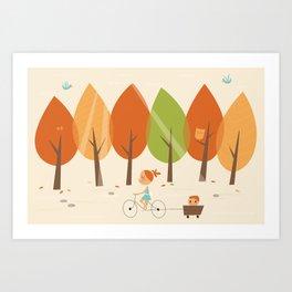 Balade en automne Art Print