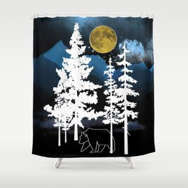 Full Moon Rising II Shower Curtain