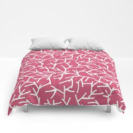 Branches - pink Comforters