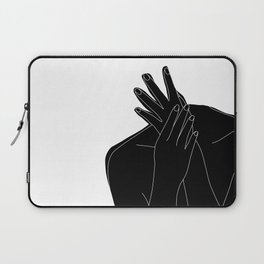 Black and white figure - Emmy Laptop Sleeve