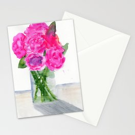 Peonies in a Vase Stationery Cards