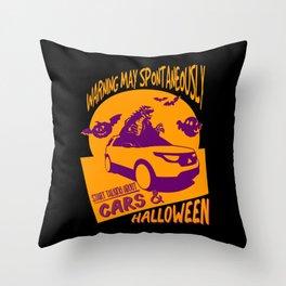 Car Lover Halloween Gift Costume Throw Pillow