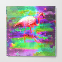 Cosmic Flamingo Metal Print