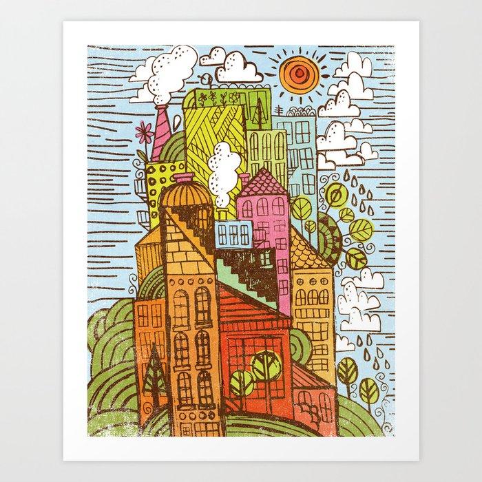 BUILD UP  Art Print