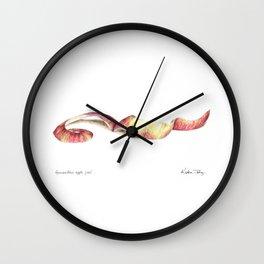 Gravenstein apple peel Wall Clock