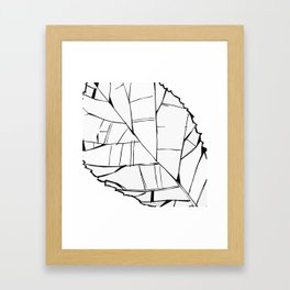 Big Juicy Leaf Framed Art Print