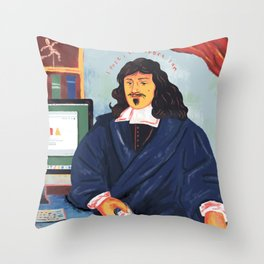 Modern Philosophy Throw Pillow