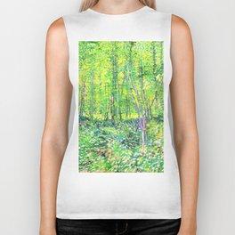 Vincent Van Gogh Trees & UnderwooD Biker Tank