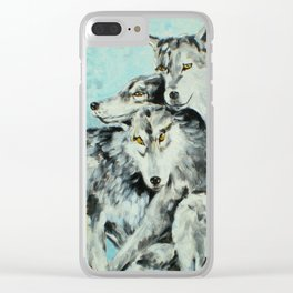 Our Brothers, the Wolves Clear iPhone Case