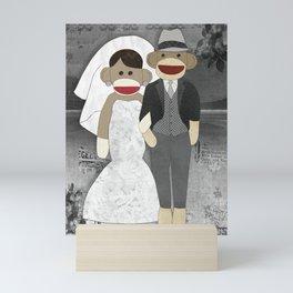 Sock Monkey Wedding Mini Art Print