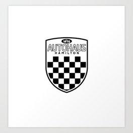 Autohaus Hamilton black logo Art Print