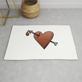 Heart motivational message for romantics in love Rug