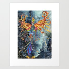 The Phoenix Rising From the Ashes Art Print
