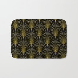 Back and gold art-deco geometric pattern Bath Mat