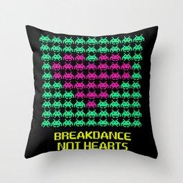 Breakdance not hearts Throw Pillow