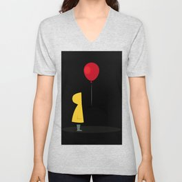 Red Balloon for 1 Penny Unisex V-Neck